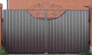 Ворота выезные фото профлист для забора климовск